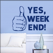 "<font color=""#0044CC"">Yes, weekend</font>"