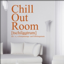 "<font color=""#0044CC""> Chillout room</font>"