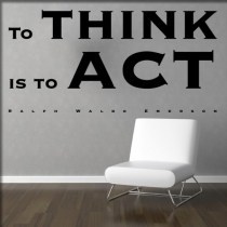 "<font color=""#0044CC"">to think is to act</font>"